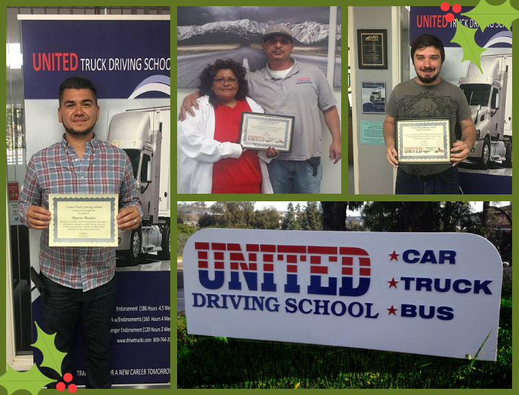 United Truck Driving School students collage