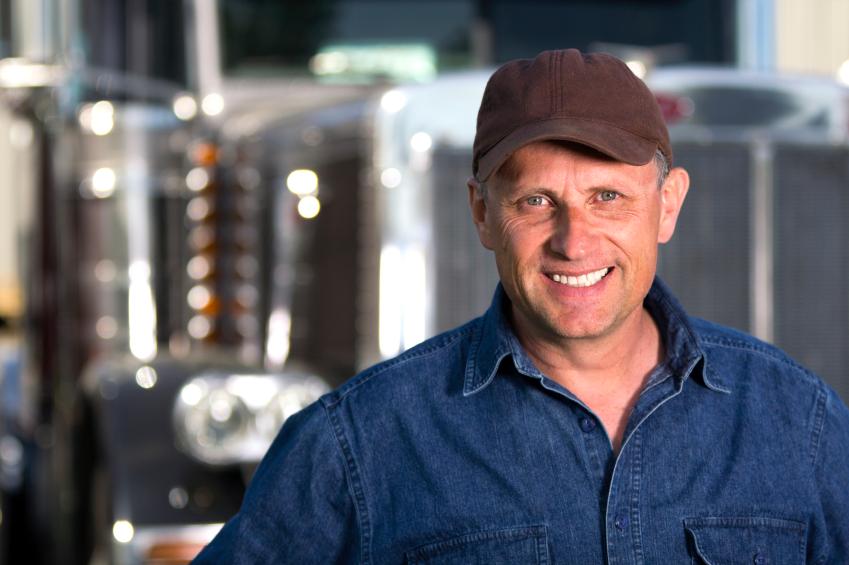 Truck driver happy